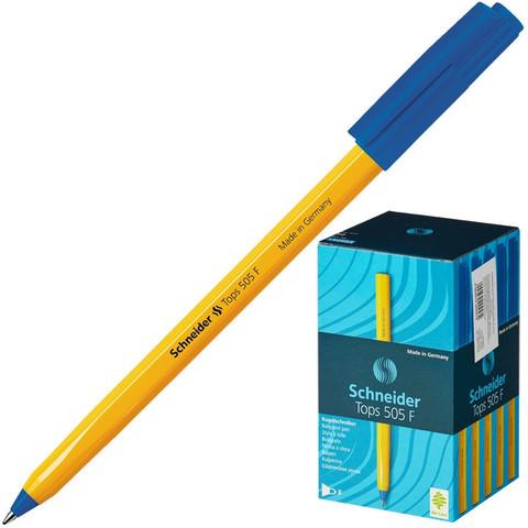 Ручка шариковая одноразовая Schneider Tops 505 F синяя (толщина линии 0.3 мм)