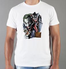 Футболка с принтом Джокер, Отряд самоубийц (Joker, Suicide Squad, Джаред Лето) белая 0034