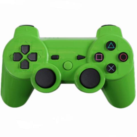 Контроллер игровой беспроводной (PS3, зеленый, копия)
