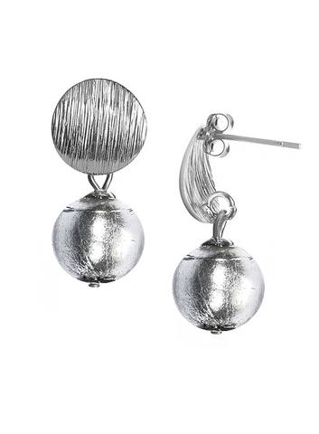 Серьги 2019 Perla Metallo Silver Rotondo Crystal