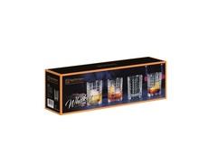 Набор из 4-х бокалов Whisky Square, 345 мл, фото 3