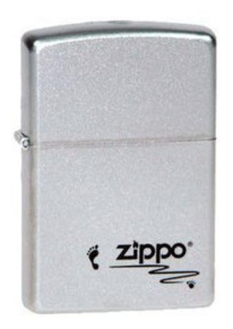 Зажигалка Zippo  (205 Footprints) №205 Footprints с покрытием Satin Chrome™ латунь/сталь серебристая матовая