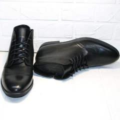 Классические зимние мужские ботинки из натуральной кожи Ikoc 3640-1 Black Leather.