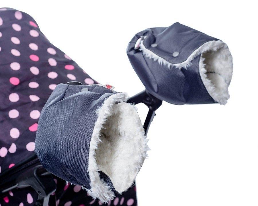 Зимние товары Муфта для коляски раздельная Farla Hands серая с белым мехом 2015-10-22_15-25-49-PhTA_tn.jpg