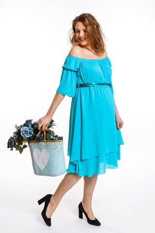 Платье для беременных 08671 зеленый