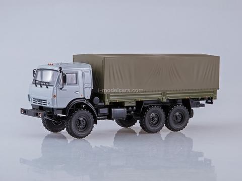 KAMAZ-53501 6x6 flatbed truck khaki-gray 1:43 PAO KAMAZ