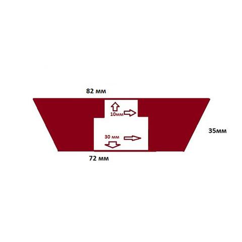Пробка силиконовая №13 82х72/35 с каналом
