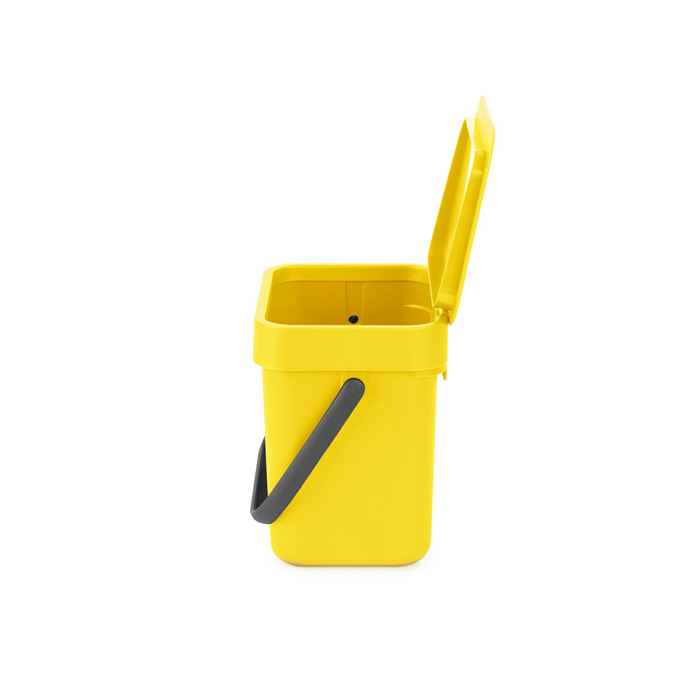 Мусорное ведро Sort & Go (3 л), Желтый, арт. 209840 - фото 1