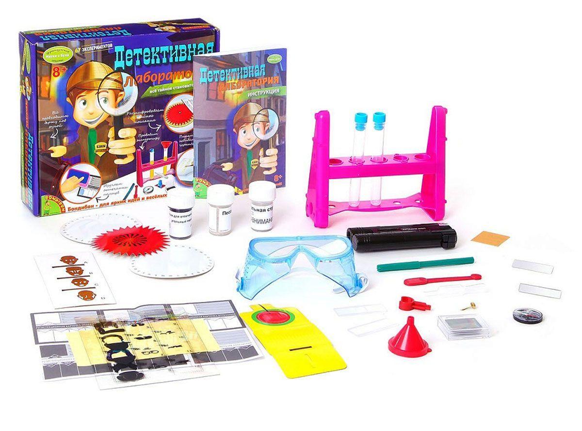 Игровой набор BONDIBON Французские опыты Науки с Буки. Детективная лаборатория ВВ1112