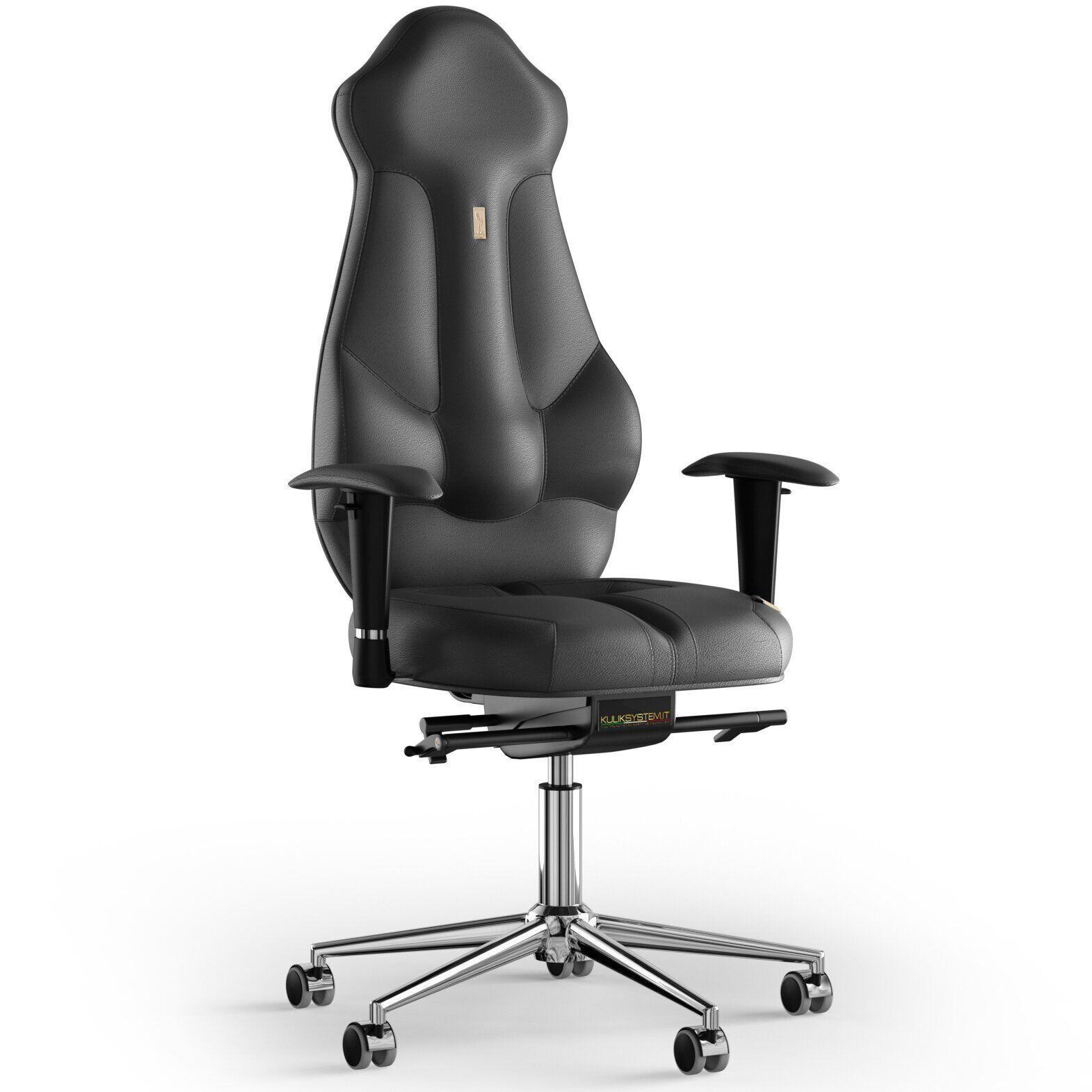 Кресло KULIK SYSTEM IMPERIAL Кожа с подголовником без строчки
