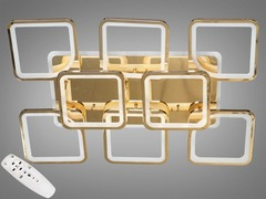 Золото либо Хром Светодиодная люстра с димером и подсветкой 270W