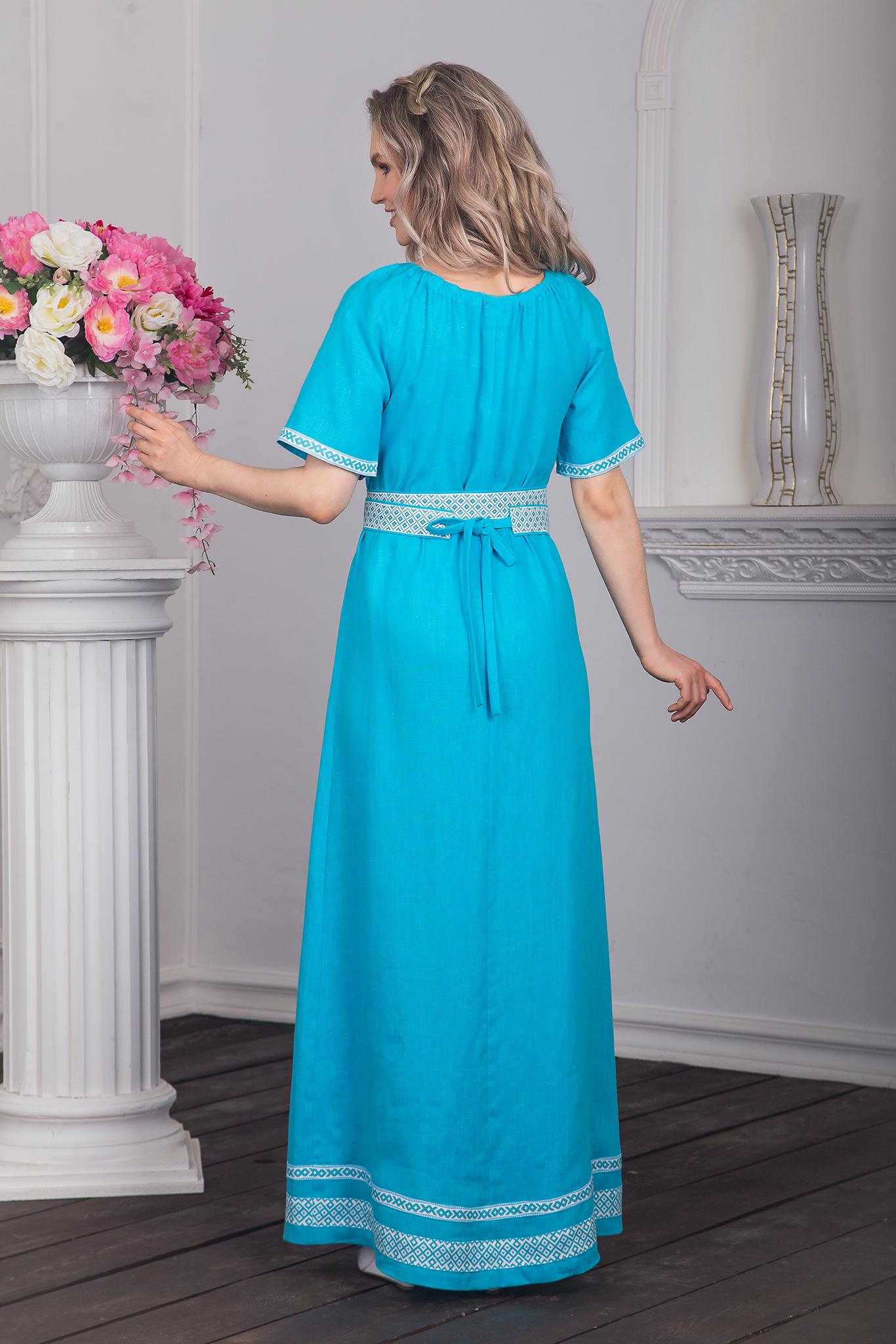 Платье традиционное Реченька вид сзади