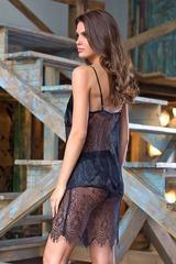Сексапильная ажурная сорочка Magdalena черная