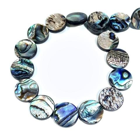Бусина перламутр Blue Abalone Shell 15-16 мм 1 шт