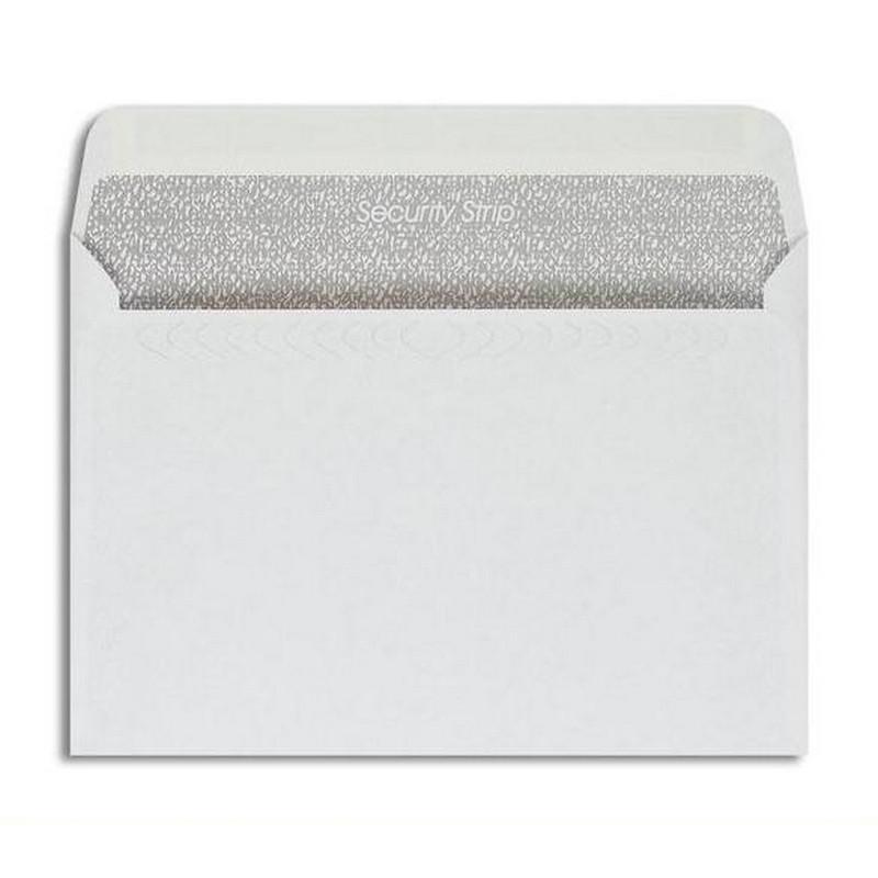 Конверт Garantpost Security Strip С5 90 г/кв.м белый стрип с внутренней запечаткой (1000 штук в упаковке)