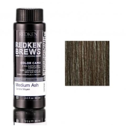 Redken Brews Color Camo: Краска-камуфляж седины за 5 минут для мужчин (Средний пепельный) (Medium Ash), 60мл