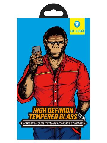 Защитное стекло BlueO для iPhone 11/XR закален. с олеоф.покр. | 2.5D рамка черное 0.26мм