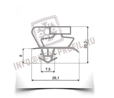 Уплотнитель для холодильника TOSHIBA GR-M59TR м.к. 510*610 мм по пазу(017)