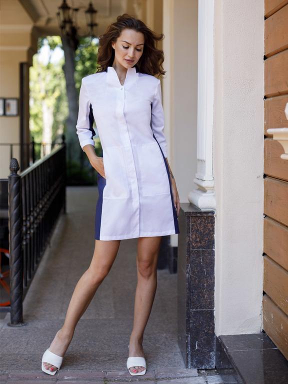 Модный медицинский халат Х-253|MediS.moda