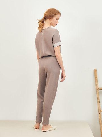 Женские брюки темно-кофейного цвета из вискозы - фото 3