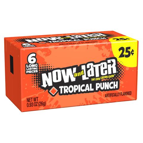 Жевательные конфеты Now and Later Tropical Punch со вкусом тропического пунша, 26 г