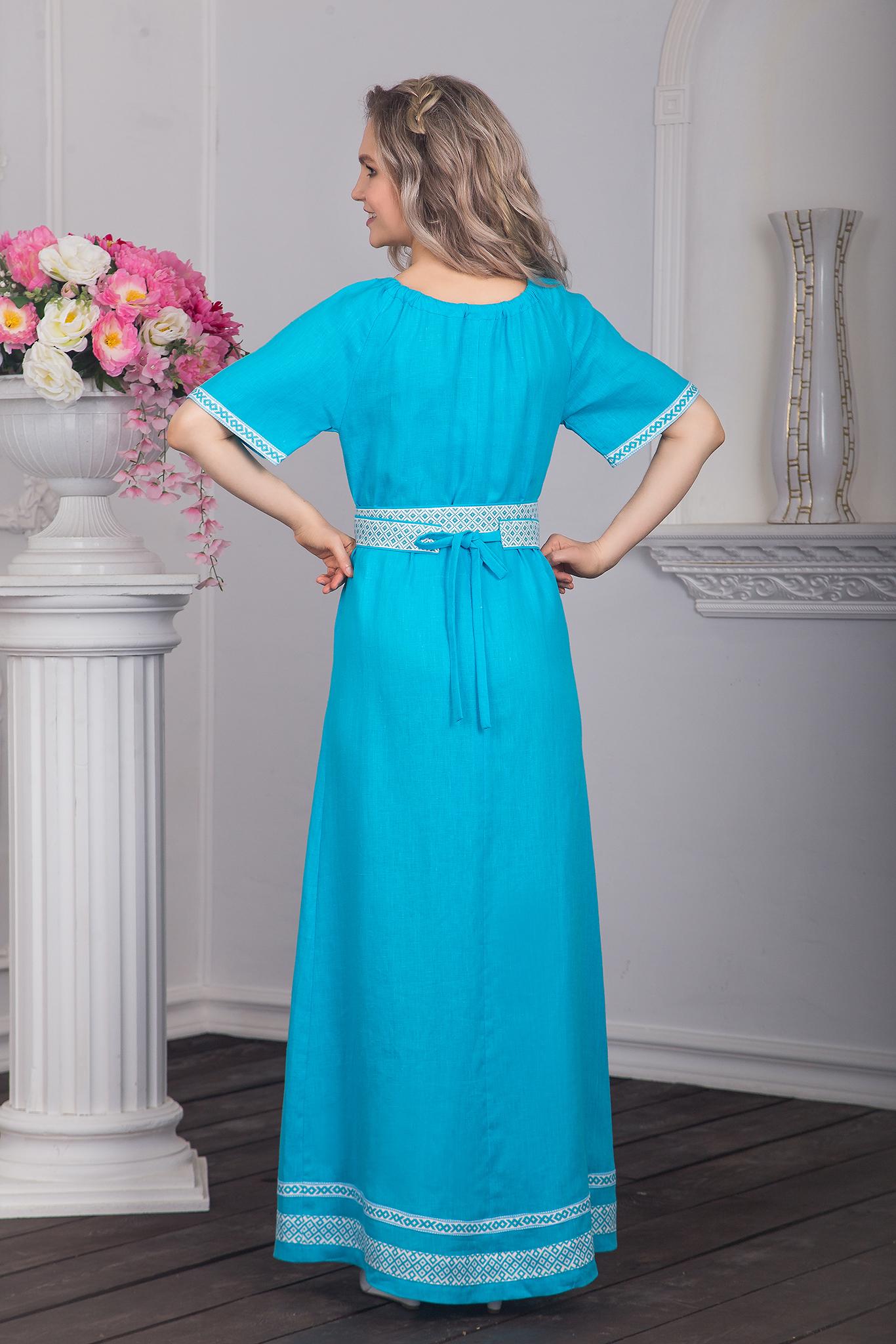 Платье традиционное Реченька сзади