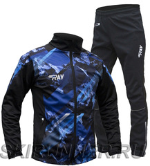 Утеплённый лыжный костюм RAY Pro Race WS Blue-Black Print мужской