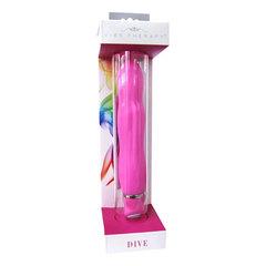 Розовый вибратор DIVE из серии VIBE THERAPY - 13 см.