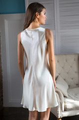 Сорочка МИа-Миа натуральный шёлк шампань