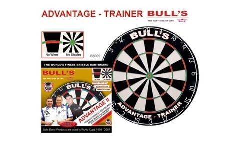 Мишень для дартса Bull's Advantage Xtra Trainer, сизаль, бесскобная, тренировочная  (артикул 68009)
