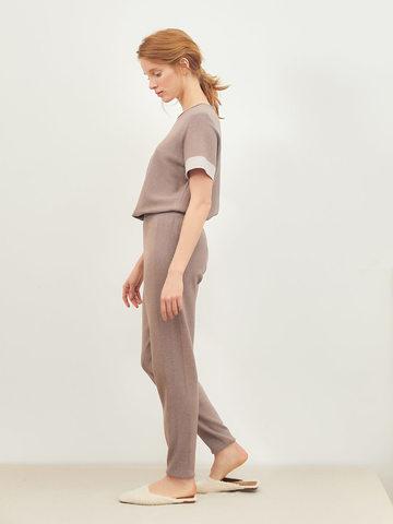 Женские брюки темно-кофейного цвета из вискозы - фото 4