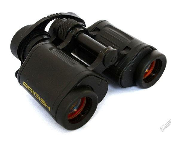 Бинокль БПЦ6 8x30 с защитными крышками на окулярах
