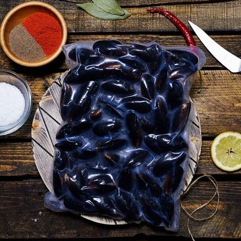 Голубые мидии, неочищенные в раковине NORDIC SEAFOOD