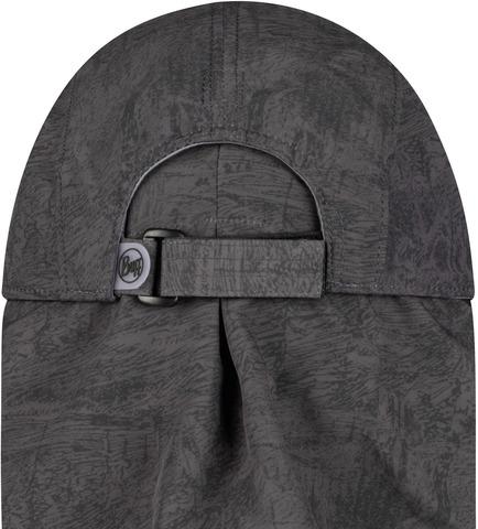 Кепка с защитой шеи от солнца Buff Bimini Cap Zinc Dark Grey фото 2