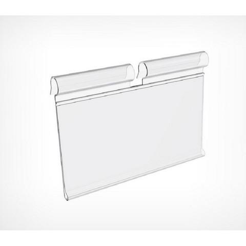Ценникодержатель VH39 на крючок откидной длина 70 мм прозрачный (100 штук в упаковке)