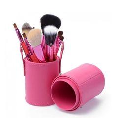 Тубус для кистей, розовый