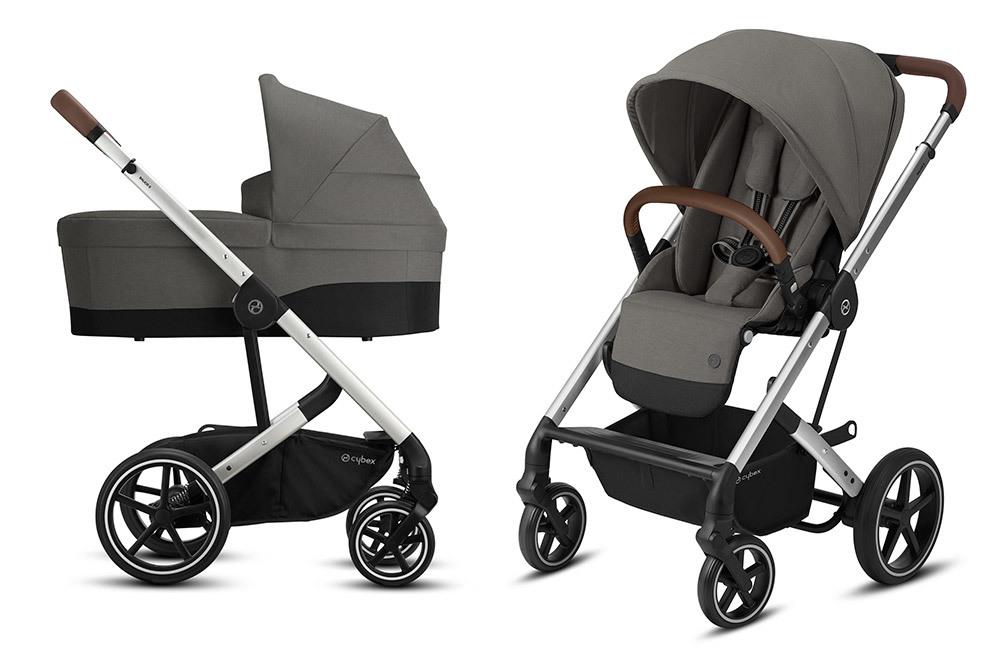 Cybex Balios S 2 в 1, для новорожденных Детская коляска Cybex Balios S Lux SLV 2 в 1 Soho Grey BaliosSLux_CotS_OnFrame_SLV-2in1-soho-grey.jpg