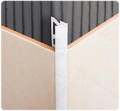 Уголок для плитки 8мм наружный однотонный