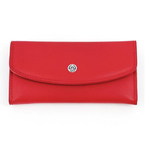 Маникюрный набор GD, 5 предметов, цвет красный, кожаный футляр