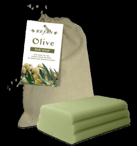 Мыло оливковое 100г в холщевом мешочке