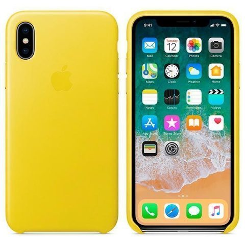 iPhone X Leather Case Spring Yellow
