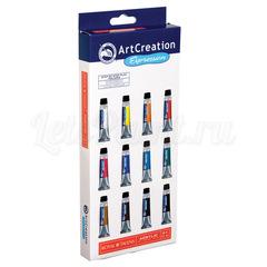 Набор акриловых красок ArtCreation - 12 цветов в тубах по 12мл
