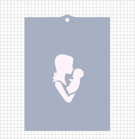 Трафарет №562 - Мама с ребенком