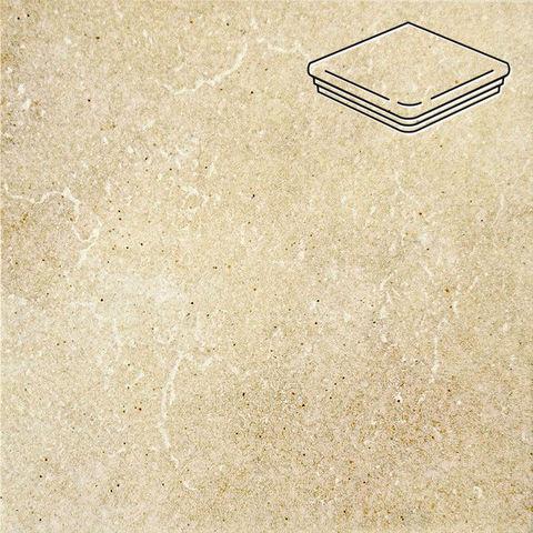Interbau - Alpen, Allgau/Золотистый песок 310x325x9, цвет 044 - Ступень флорентийская угловая