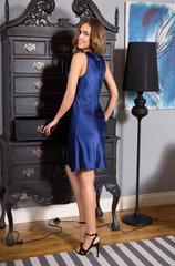 Сорочка натуральный шёлк Миа-Миа синий