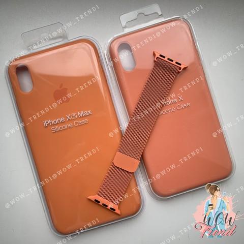 Ремешок Apple watch 38mm Milanese Loop /orange/