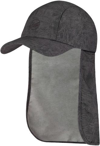 Кепка с защитой шеи от солнца Buff Bimini Cap Zinc Dark Grey фото 1