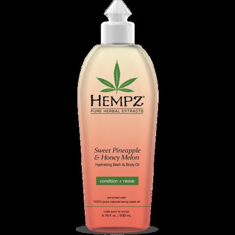 Масло увлажняющее для ванны и тела Ананас & Медовая дыня / Hempz Hydrating Bath & Body Oil