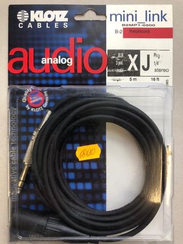 KLOTZ B2MP1-0500 - Микрофонный кабель MY204