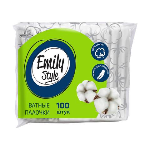 Палочки ватные Emily Style ватные палочки пакет 100шт/уп